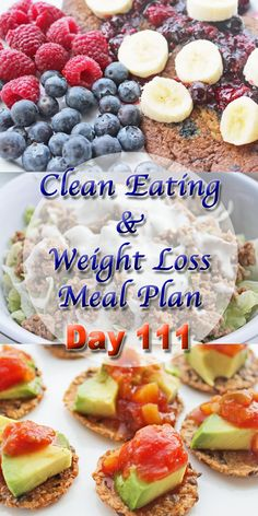 clean eating weight loss meal plan day 111