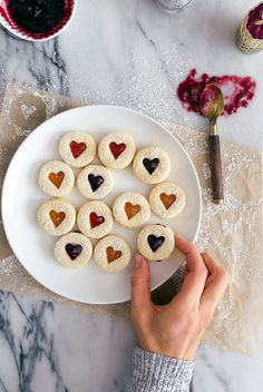 Mini Linzer Cookies (with Boozy Jam)