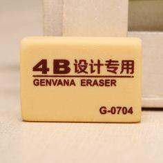 Genvana 4B Medium Size Eraser Rubber For Art Drawing Sketching