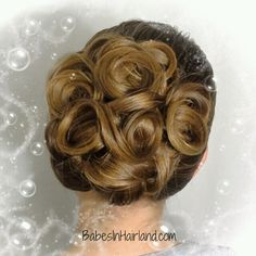 Looped & curled updo from BabesInHairland.com #updo #curls #gorgeous #hair