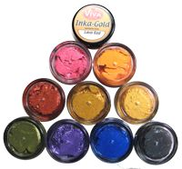 New Inka Gold color available.  Emerald Green.  Inka-Gold is a metal gloss paint paste that comes in 19 gorgeous colors!!  Try a sample jar... a little goes a very long way! $2.75