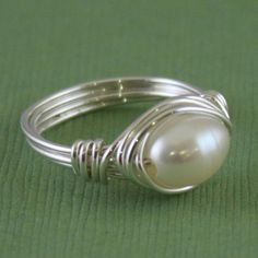 Pearly Gates Ring  http://www.etsy.com/listing/61919132/pearly-gates-ring-sterling-silver-wire