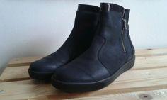 Lederschuhe Waldläufer dunkelblau Größe 8 (42) neu in Kleidung & Accessoires, Damenschuhe, Stiefel & Stiefeletten | eBay