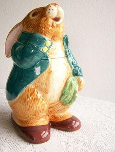 peter rabbit  cookie jars | Vintage Cookie Jar Peter Rabbit by Sigma by AletaFordBakerDesign