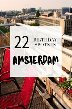 """Party time? Go to http://www.yourlittleblackbook.me/nl/verjaardag-in-amsterdam/ to find the perfect locations to celebrate a birthday! Planning a trip to Amsterdam? Check http://www.yourlittleblackbook.me/ & download """"The Amsterdam City Guide app"""" for Android & iOs with over 550 hotspots: https://itunes.apple.com/us/app/amsterdam-cityguide-yourlbb/id1066913884?mt=8 or https://play.google.com/store/apps/details?id=com.app.r3914JB"""