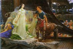 Tristan and Isolde depicted by Herbert Draper (1863–1920)