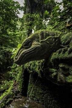 Stone guardian. Bali.