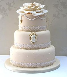 Vintage Cameo cake  #Wedding cakes by Curtis and Co Cakes