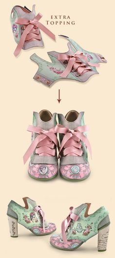 Retro shoes that some would probably hate and others love.. Inspired by Maria Antonieta!