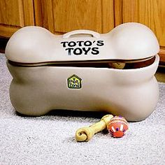 Pet Toys Storage Box  Please get this for Ry