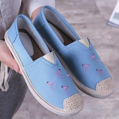 Plus Size Espadrilles Flat Loafers – ebuychic Flat Shoes Outfit, Casual Shoes, Espadrilles, Loafer Flats, Bag Of Cement, Loafers For Women, Shoes Women, Work Flats, Comfortable Flats