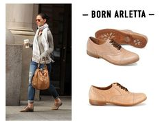 loving the oxford in this desert shade.  Get the look with the Born Arletta  (velvet laces!)