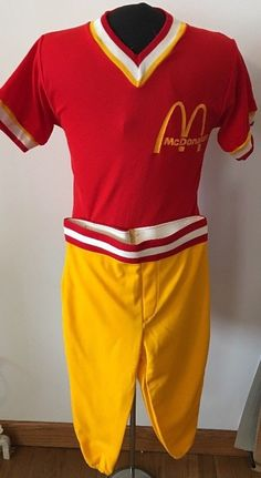 e6af153a902 Details about Russell Athletic Vintage McDonald s Youth Kids Baseball  Uniforms 5 Pair Medium