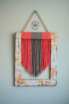 Make Yarn Wall Art using left over yarn!