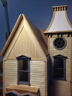 Architecture of Tiny Distinction's Greenleaf Fairfield Dollhouse (unfinished)