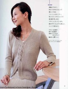 Knitting a pullover with braids Knitting Designs, Knitting Stitches, Knitting Yarn, Hand Knitting, Knit Or Crochet, Crochet Clothes, Pulls, Knitwear, Knitting Patterns