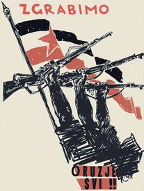 "Yugoslavian Partisan poster ""To Arms, Everyone!"""