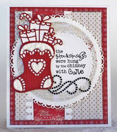 Handmade card by Lisa Blastick using the Jolly Jingles stamp set from Verve. #vervestamps