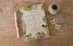 DIY Printable Wedding Invitation Avery - bird design