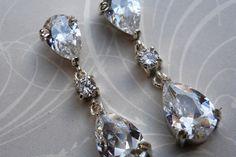 drop bridal earrings by thula Diamond Earrings, Pearl Earrings, Bridal Earrings, Sterling Silver Earrings, Real Weddings, Vintage Inspired, Drop, Pretty, Handmade