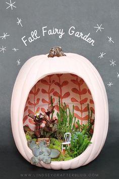 Bekijk de foto van ivkiona met als titel Fall Fairy Garden en andere inspirerende plaatjes op Welke.nl.