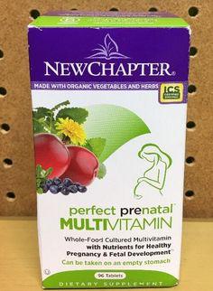 New Chapter Perfect Prenatal Multivitamin Premium Vitamin Supplements 96 Tabs