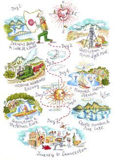 Amanda Upton - Touring map of Central Tasmania for Tourism Tasmania