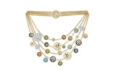 ROSE DES VENTS BIB NECKLACE, 18K YELLOW AND WHITE GOLD, DIAMOND AND HARD STONES | Dior