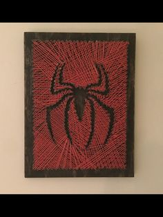 Spiderman string art