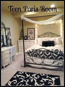 Teen or tween girl Paris themed bedroom ideas