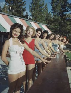 Young women holidaying by Lake Tahoe, circa 1959. Photograph by Slim Aarons