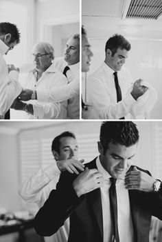 Groom and groomsmen getting ready photos