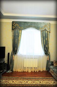 Нажмите чтобы посмотреть картинку, используйте мышь для перетаскивания. Используйте клавиши вперёд и назад Curtains For Arched Windows, Swag Curtains, Curtains And Draperies, Home Curtains, Hanging Curtains, Window Curtains, Cornice Design, Victorian Curtains, Arabic Decor