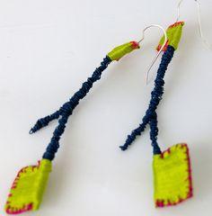 colored wire, silk fabric