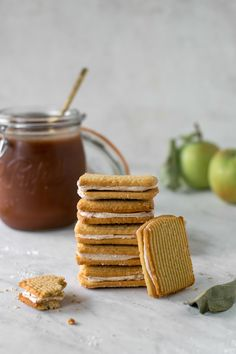 Apple Butter Biscuit Cookies — All Purpose Flour Child Danish Butter Cookies, Biscuit Cookies, Sandwich Cookies, Homemade Apple Butter, Fall Recipes, Parfait, Biscuits, Purpose, Sweet Tooth