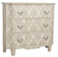Devon Chest from Soft Surroundings...can't afford it, but could paint a thrift store find this design.