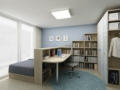 Perfect Small Bedroom Office Combo Ideas Upon Small Home Remodel Ideas with Small Bedroom Office Combo Ideas Small Bedroom Office, Bedroom Office Combo, Single Bedroom, Home Bedroom, Bedroom Desk, Small Office, Bedroom Divider, Desk Bed, Master Bedroom