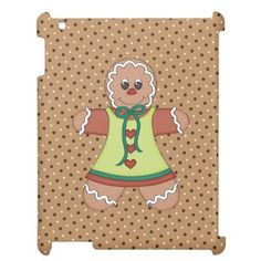Gingerbread iPad Savvy Glossy 2/3/4 case Case For The iPad 2 3 4