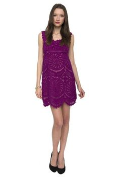 Great little purple lacey dress. On sale now. 50% off the original price.