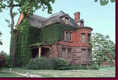 One of many abandoned mansions in Detroit