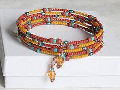 Seed Bead Bracelet Southwestern Colors  Terracotta by 2Cr8Beading, $30.00