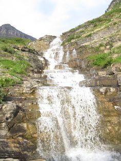 Waterfall, Going-to-the-Sun Road, Montana