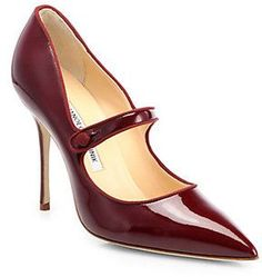 Manolo Blahnik Campari Patent Mary Jane Pumps auf shopstyle.de