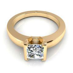 Aurella - Yellow gold - 0.35CT princess cut diamond solitaire ring, £670.00 (http://www.aurella.co/yellow-gold-0-35ct-princess-cut-diamond-solitaire-ring/)