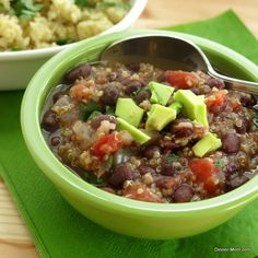 Black bean and quinoa soup