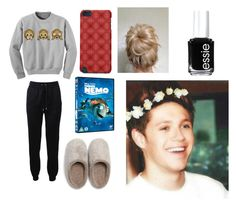 """Lazy Day With Niall"" by louisismycarrotbuddy ❤ liked on Polyvore featuring Barbara Bui, Natori and Essie"