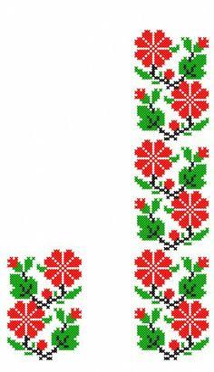 Cross Stitch Heart, Cross Stitch Borders, Crochet Borders, Cross Stitch Flowers, Cross Stitch Designs, Filet Crochet Charts, Cross Stitching, Cross Stitch Patterns, Hand Embroidery Patterns Flowers