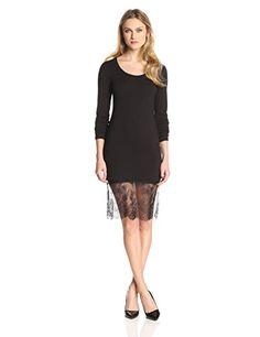 BCBGMAXAZRIA Women's Livi Long Sleeve Lace Hem Dress, Black, X-Small BCBGMAXAZRIA http://www.amazon.com/dp/B00LT819G6/ref=cm_sw_r_pi_dp_xSpRvb092XEPN