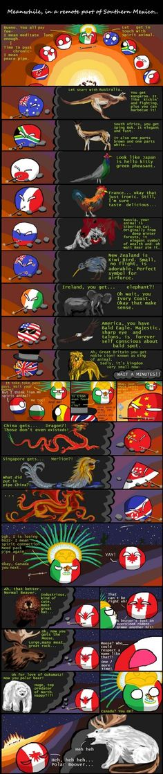 """Wiggly mouse-drawn comics where balls represent different countries. They poke fun at national stereotypes and the """"international drama"""" of their. Chuck Norris, Hetalia Funny, History Memes, Fun Comics, Spirit Animal, Funny Jokes, Cyberpunk, Funny Pictures, Comics"""