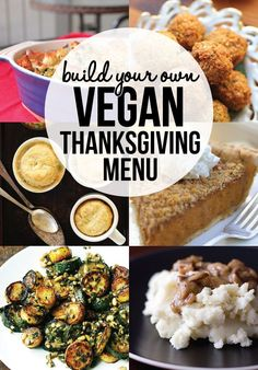 Everything you need to build your own vegan Thanksgiving menu. Recipes for vegan sides, vegan mains, dessert, gravy, cranberry sauce and rolls. Choose from each category to build your plant-based holiday feast. Works for Christmas too! via @runonrealfood